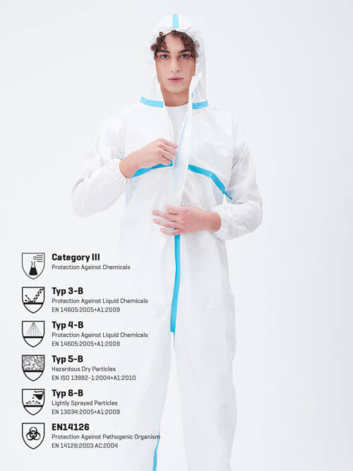 Disposable protective suit PPE Typ-3456-1 Category III