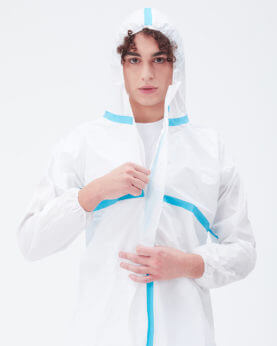 Buy online Disposable protective suit, category III